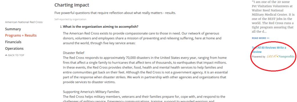 Guidestar ARC screenshot_GreatNonprofits