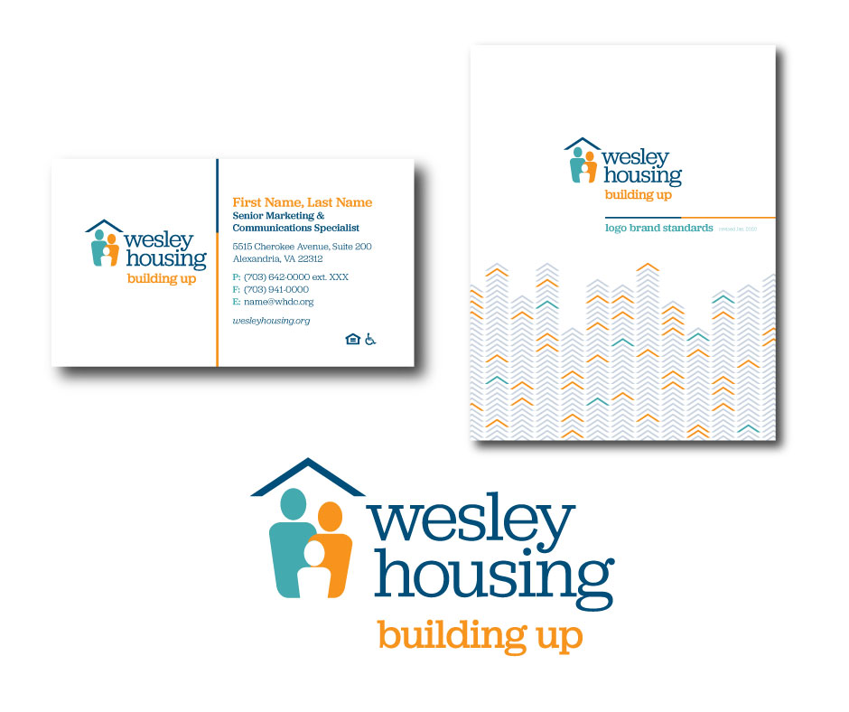 business card, brand guidelines and logo for Wesley client