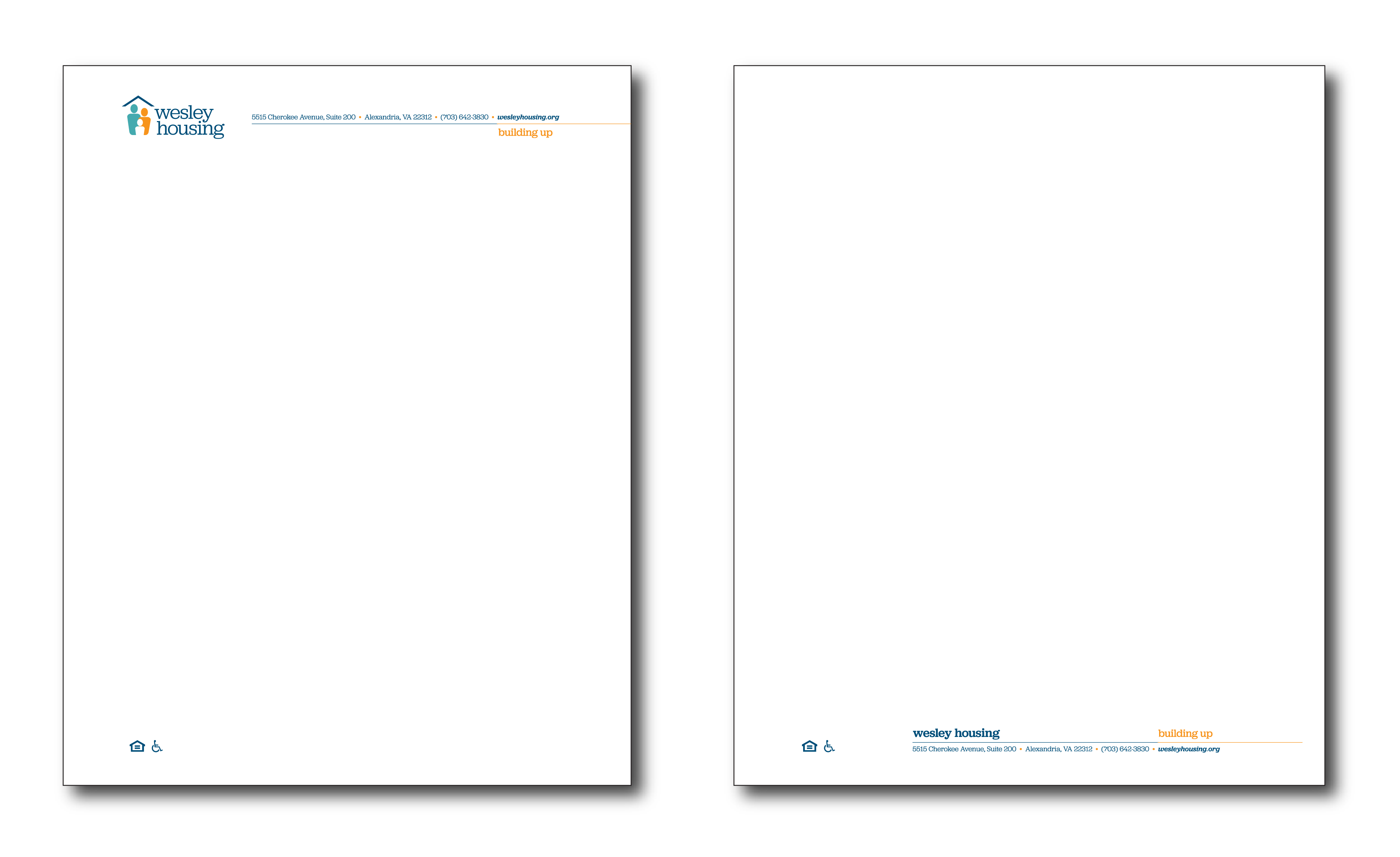 letterhead template for Wesley client