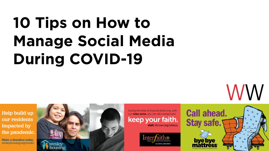 10 Tips on How to Manage Social Media During COVID-19