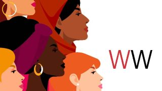 Women of different races and ethnicities standing together