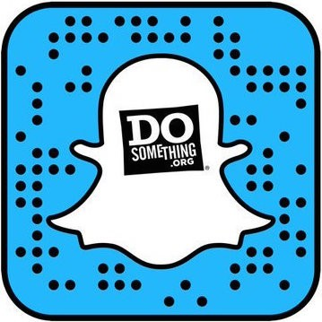 ghost outline shape with Do Something logo inside it